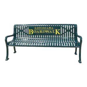 personalized diamond pattern bench