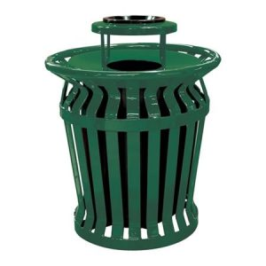 32 Gallon Ring Banded Receptacle with Ash Bonnet