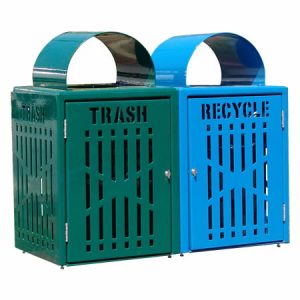 32 gal diamond trash bins with doors