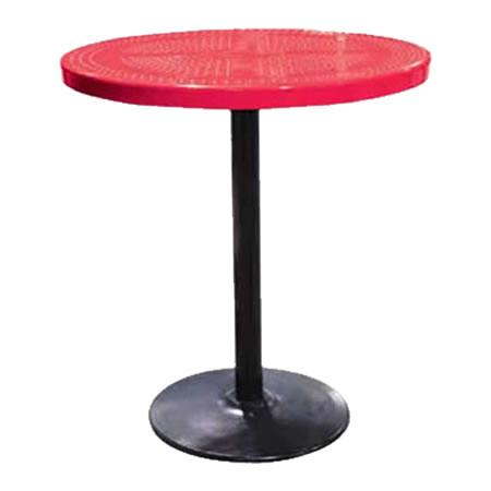 Perforated Pedestal Table