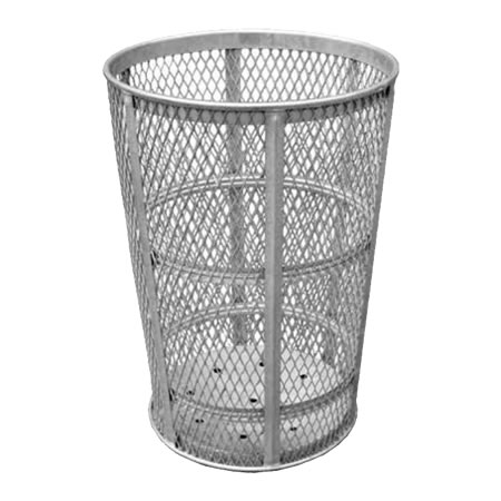45 Gal Galvanized Exoanded Receptacle