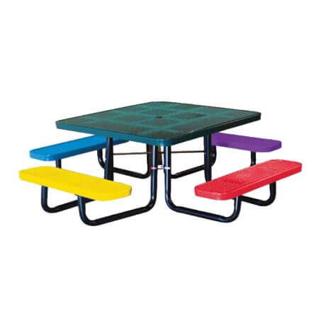 46 Square Perforated Childrens Tables