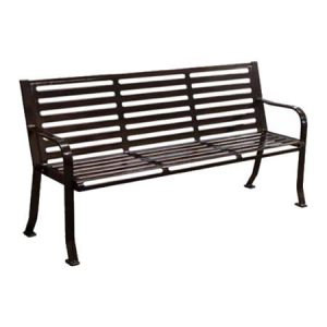 Horizontal Slatted Bench
