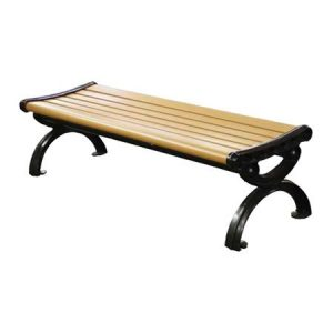 Victorian Recycled Plastic Bench Without Back