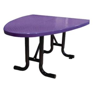 Perforated Semi-Oval Café Table