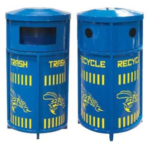 Personalized Dual Channel Trash-Recycling Bin