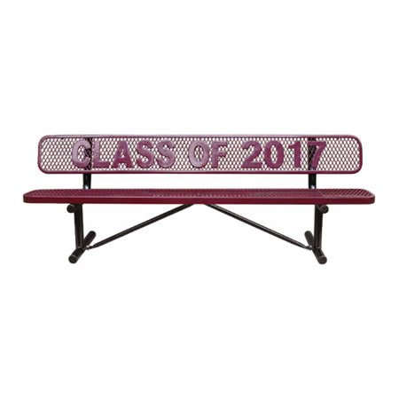 Personalized Standard Expanded Metal Bench With Back