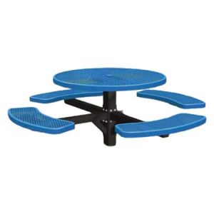 Single Post Expanded Metal Round Table