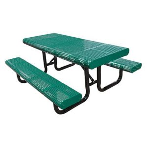 Radial Edge Perforated Picnic Table
