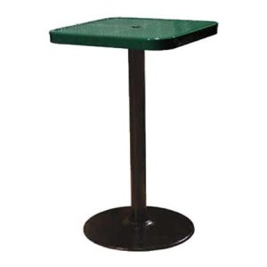 Square Perforated Pedestal Table