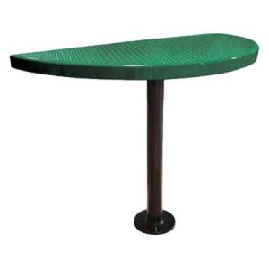 Perforated Semi-Circular Café Pedestal Table
