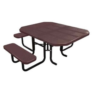 Octagonal ADA Perforated Table