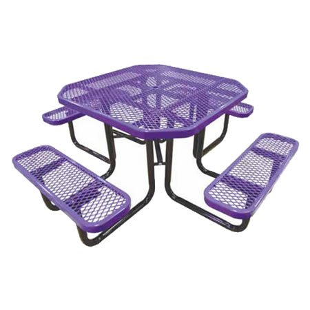 Octagonal Expanded Metal Table
