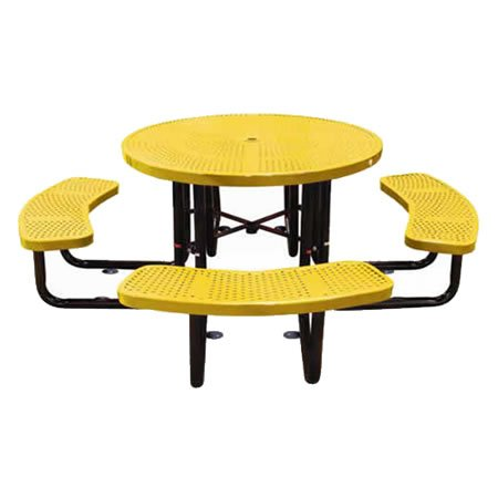 Round Perforated Table