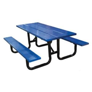 Steel Plank Perforated Metal Picnic Table