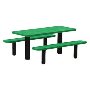 Permanent Mount Perforated Picnic Table