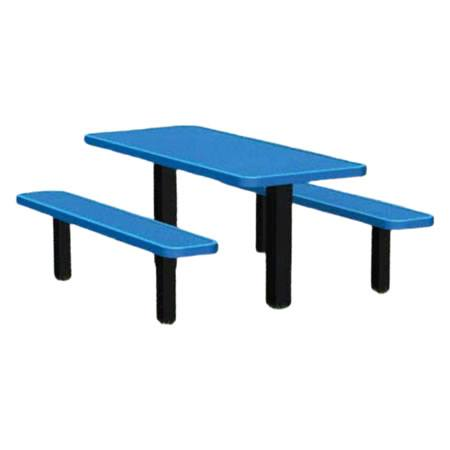 Permanent Mount Expanded Metal Picnic Table