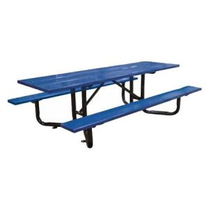 Steel Plank Y-Base Perforated Metal ADA Picnic Table