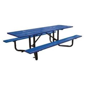 Steel Plank Y-Base Perforated Metal ADA Picnic Table