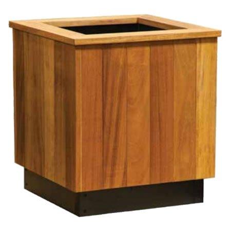 mahogany planter