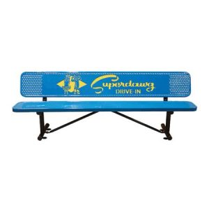 personalized multicolor perforated players bench