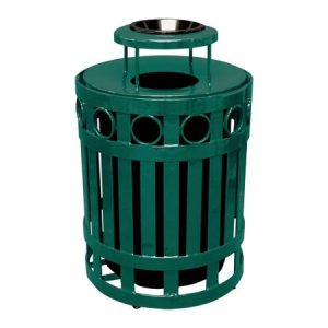 32 Gal Ring Receptacle with Ash Bonnet Lid