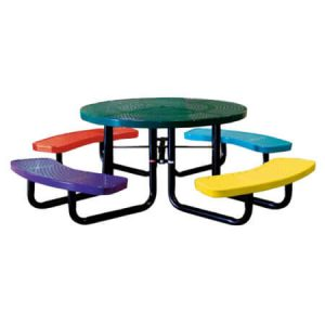 46 Round Perforated Childrens Table