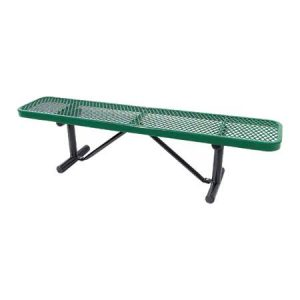 Expanded Metal Players Bench Without Bacj