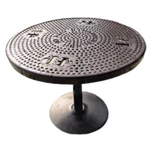 Personalized 36˝ Perforated Pedestal Table