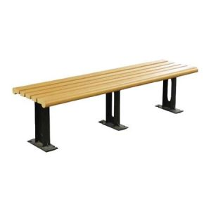 Modern Recycled Plastic Bench Without Back