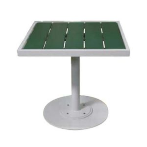 Plastic Slat Pedestal Table