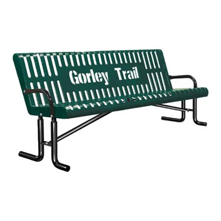 Personalized Vertical Slatted Bench