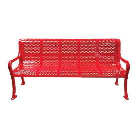 roll formed perforated bench