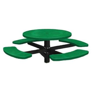 Single Post Perforated Round Table