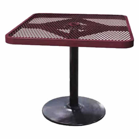 Square Expanded Pedestal Table
