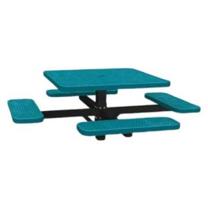 Single Post Perforated Square Table