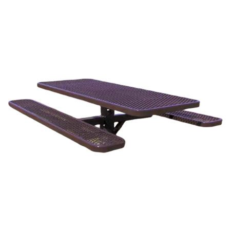 Single Post Expanded Metal Picnic Table