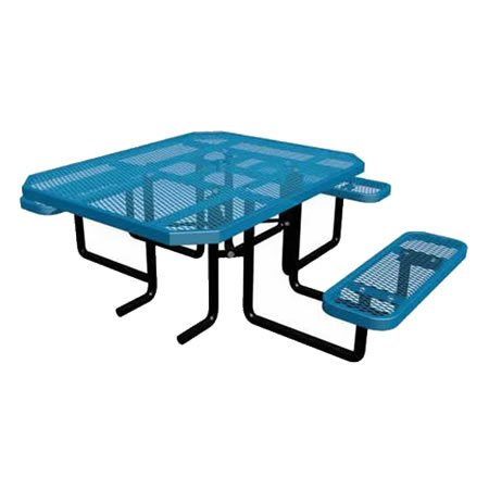 Octagonal ADA Expanded Metal Table