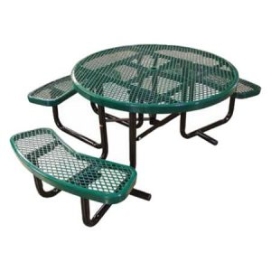 Round Expanded Metal ADA Table