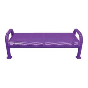 U-Leg Perforated Bench Without Back