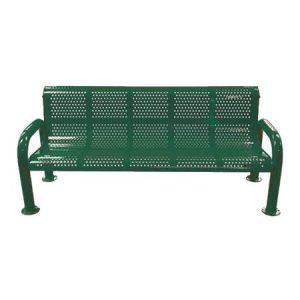 U-Leg Perforated Bench