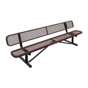 Standard Expanded Metal Bench With Back