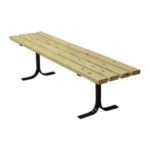 wooden bench without back - pine